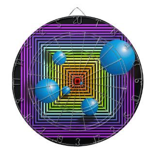 Colores círculos y cuadrados de Chakra Tablero De Dardos