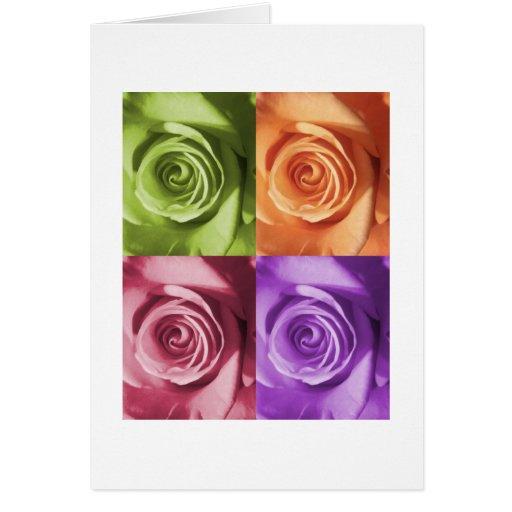 Colores color de rosa felicitaciones
