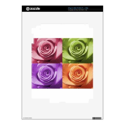 Colores color de rosa iPad 2 calcomanías