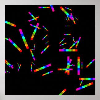 colores coloridos del color del arco iris póster