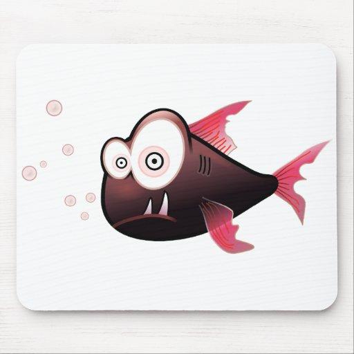Colores cómicos del amigo subacuático exhausto de  alfombrilla de ratón