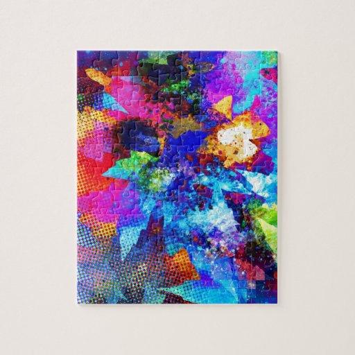 Colores creativos del arte de la calle de la pintu puzzle