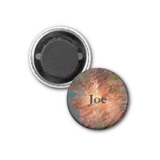 colores cremosos, bronce imán redondo 3 cm