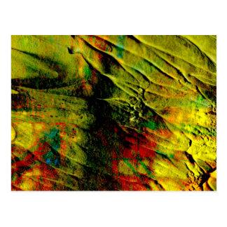 colores cremosos, postal