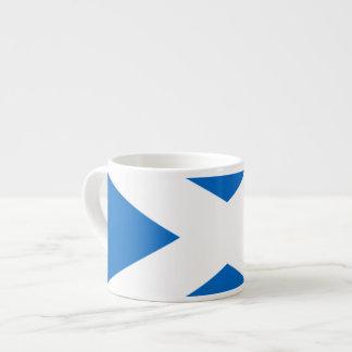 Colores cruzados escoceses de Escocia Taza Espresso