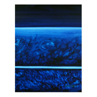 Colores curativos Notecard/postal - azul que calma Tarjeta Postal