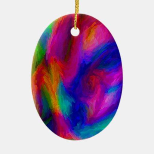 Colores de agua abstractos ornaments para arbol de navidad