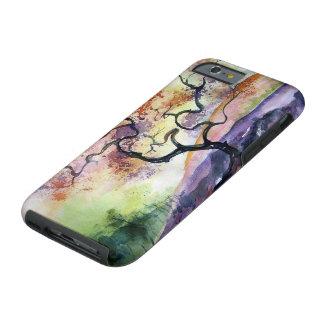 Colores de agua del cerezo funda resistente iPhone 6