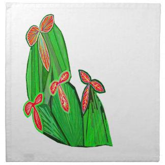 Colores de agua verdes del tema - cactus del CACTU Servilleta Imprimida