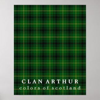 Colores de Arturo del clan del tartán de Escocia Póster