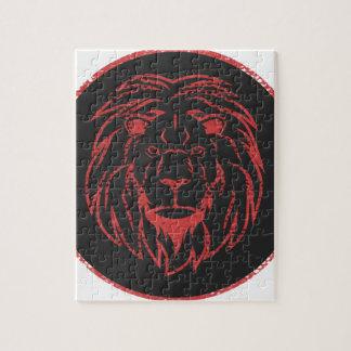 Colores de Black&Red del león Puzzle
