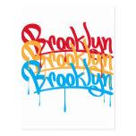 Colores de Brooklyn Tarjetas Postales