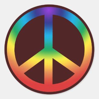 Colores de Chakra del pegatina del signo de la paz