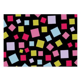 Colores de conexión en cascada plantilla de tarjeta de visita