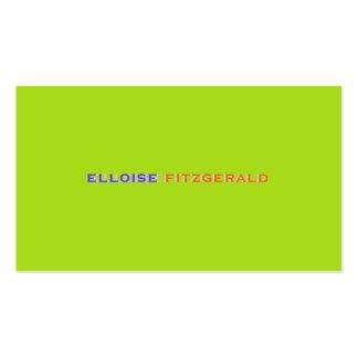 Colores de DIY+tarjeta de visita de las