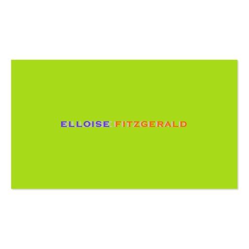 Colores de DIY+tarjeta de visita de las Tarjetas De Visita