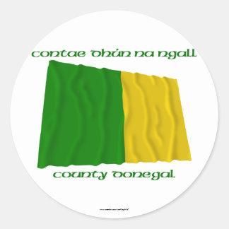 Colores de Donegal del condado Pegatina Redonda