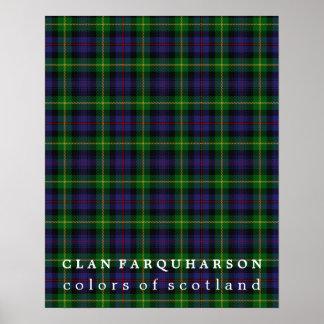 Colores de Farquharson del clan del tartán de Póster