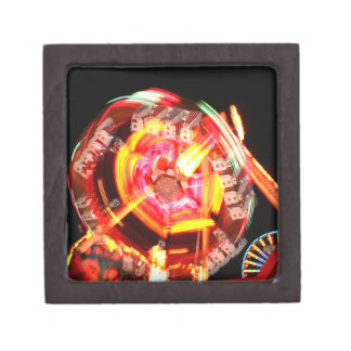 Colores de giro del paseo justo rojos y amarillos caja de recuerdo de calidad