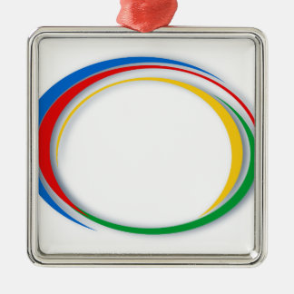 Colores de Google Adorno Navideño Cuadrado De Metal