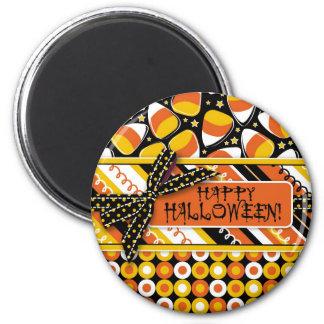 Colores de Halloween de las pastillas de caramelo  Imán Redondo 5 Cm