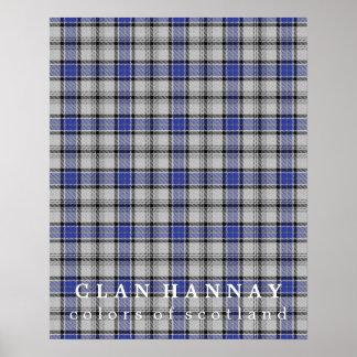 Colores de Hannay del clan del tartán de Escocia Póster