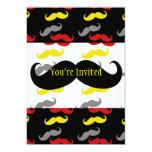 Colores de hombres del pelo del bigote invitación 12,7 x 17,8 cm