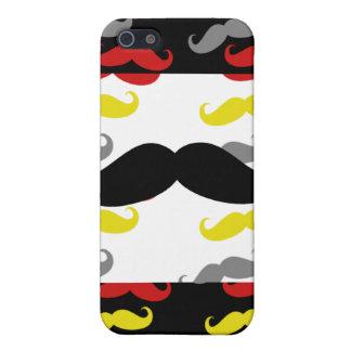 Colores de hombres del pelo del bigote iPhone 5 carcasa