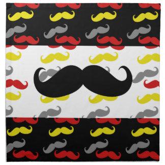 Colores de hombres del pelo del bigote servilletas de papel