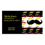 Colores de hombres del pelo del bigote tarjetas de visita