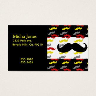 Colores de hombres del pelo del bigote tarjeta de negocios