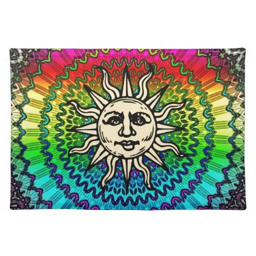 Colores de la alegría de Sun Mantel Individual