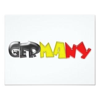 """¡Colores de la bandera de Alemania! Invitación 4.25"""" X 5.5"""""""