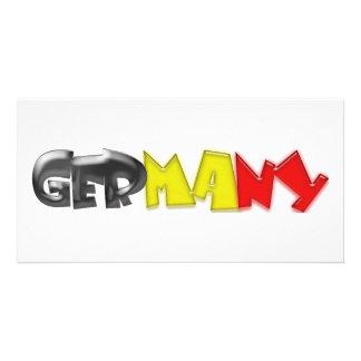 ¡Colores de la bandera de Alemania! Tarjetas Fotograficas Personalizadas
