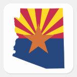 Colores de la bandera de Arizona Pegatina Cuadrada