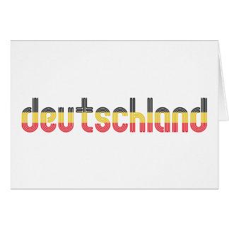 ¡Colores de la bandera de Deutschland Felicitación