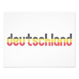 ¡Colores de la bandera de Deutschland Invitaciones Personalizada