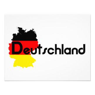 ¡Colores de la bandera de Deutschland Invitación