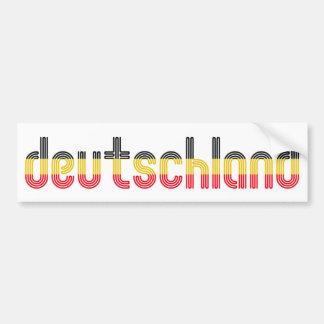 ¡Colores de la bandera de Deutschland! Pegatina Para Auto