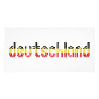 ¡Colores de la bandera de Deutschland Tarjetas Fotograficas