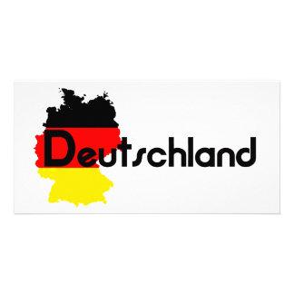 ¡Colores de la bandera de Deutschland Tarjeta Fotografica Personalizada