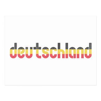 ¡Colores de la bandera de Deutschland Tarjetas Postales