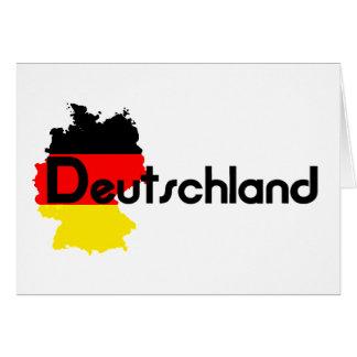 ¡Colores de la bandera de Deutschland Tarjeton