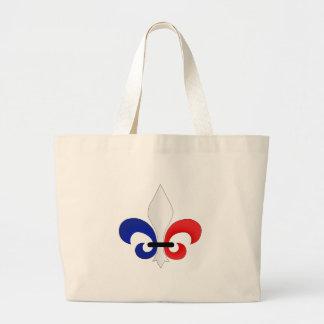 Colores de la bandera de Francia de la flor de lis Bolsas