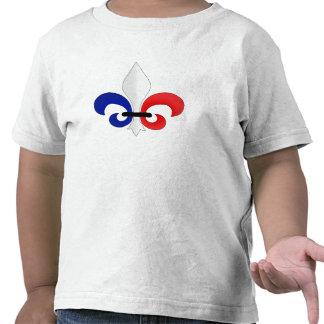 Colores de la bandera de Francia de la flor de lis Camiseta