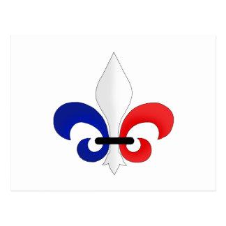 Colores de la bandera de Francia de la flor de lis Tarjetas Postales