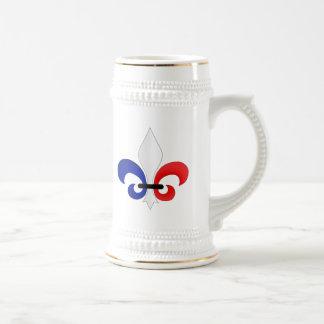 Colores de la bandera de Francia de la flor de lis Tazas