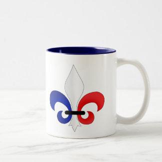 Colores de la bandera de Francia de la flor de lis Taza