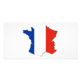 ¡Colores de la bandera de Francia! Tarjetas Fotográficas Personalizadas