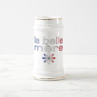 Colores de la bandera de Mère Francia de la bellez Tazas De Café